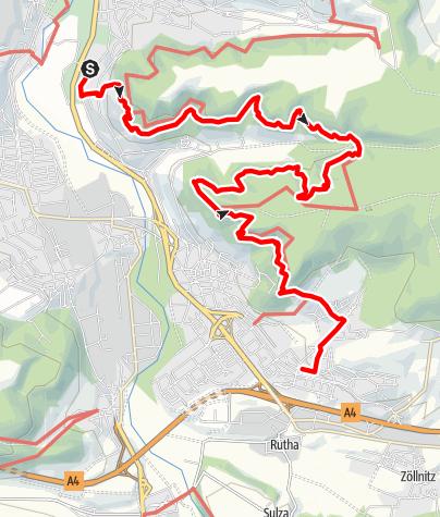 Karte / Von den Teufelslöchern zur Lobdeburg