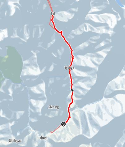 Map / Annapurna circuit - Ngadi - Tal trek