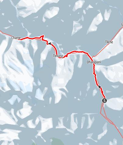 Map / Annapurna circuit - Tal - Chame