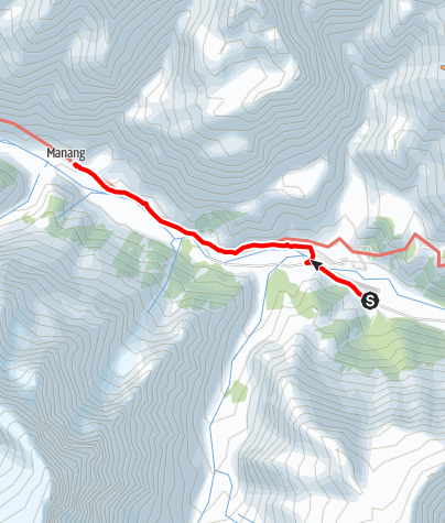 Map / Annapurna circuit - Humde - Manang