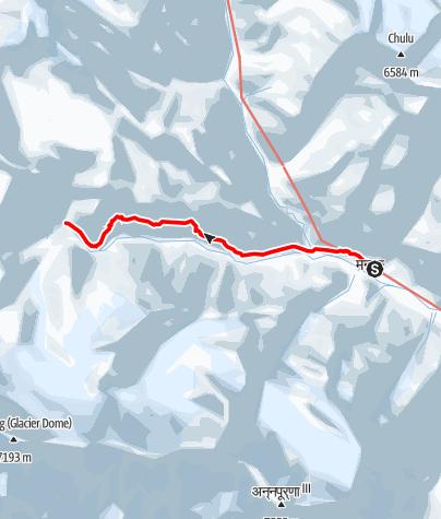Map / Annapurna circuit - Manang - Tilicho Base Camp trek