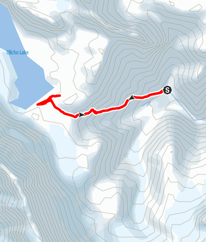 Map / Annapurna circuit - Tilicho Base Camp - Tilicho Lake - Tilicho Base Camp