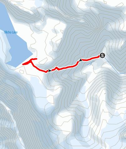 Map / Annapurna circuit - Tilicho Base Camp - Tilicho Lake - Tilicho Base Camp