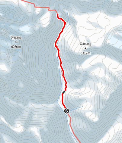 Map / Annapurna circuit - Yak Kharka - Thorong La - High Camp