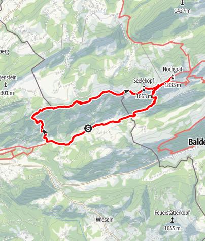 Karte / Spannende Gratwanderung über 5 Gipfel der westlichen Nagelfluhkette