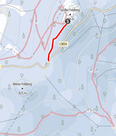 Karte / Großer Feldberg / Taunus