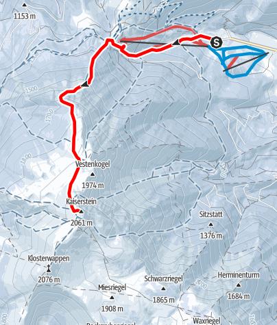 Karte / Schneeberg/Fischerhütte über Fadensteig