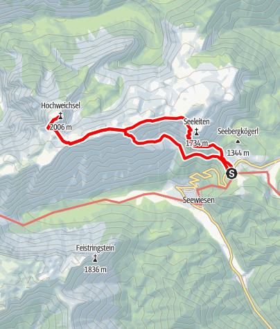Karte / Hochweichsel über Gamssteig