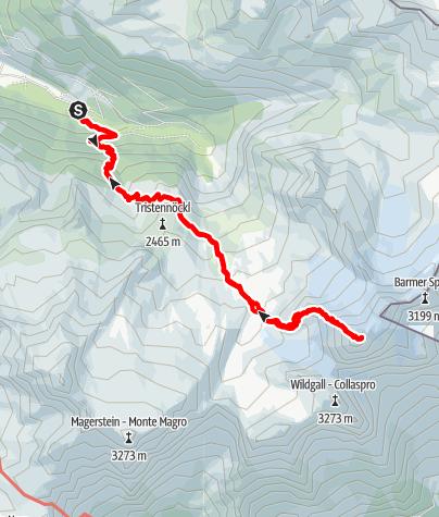 Karte / Hochgall (3.436 m) - Über den NW-Grat auf den höchsten Gipfel der Rieserfernergruppe
