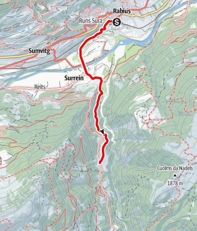 Karte / Bahnhof Rabius - Ustria Val Sumvitg