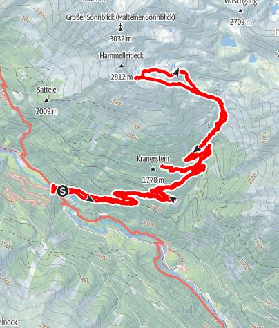 Karte / Malteiner Sonnblick 3030m