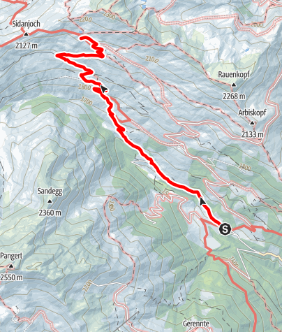 Karte / Rastkogelhütte - Zustieg vom Möslwirt