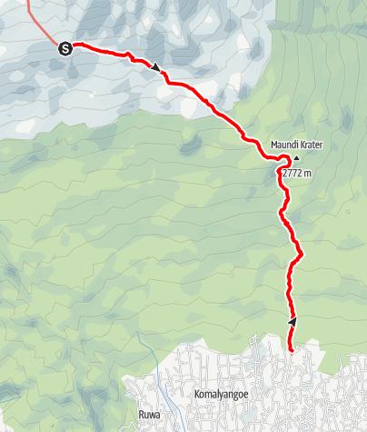 Karte / Kilimanjaro 5. Tag