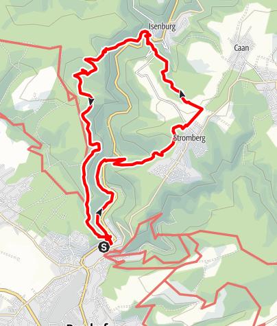 Karte / 56170Sayn - Stromberg - Isenburg