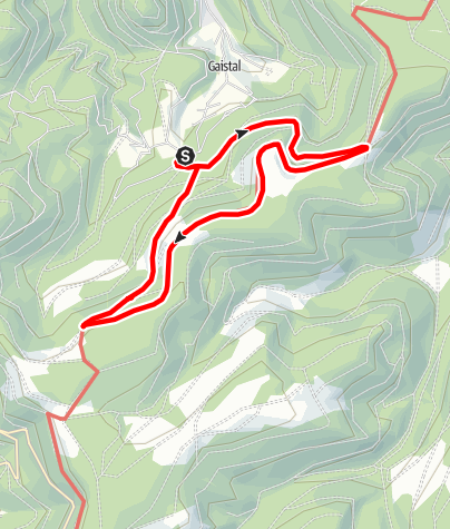 Karte / Talwiesenschänke - Schweizerkopfhütte - Hahnenfalzhütte - Talwiesenschänke