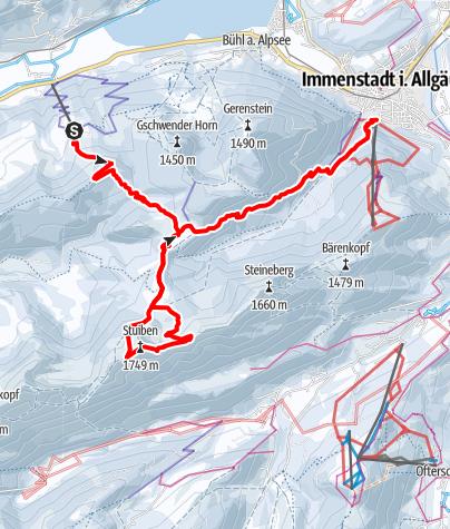 Karte / Auf den Stuiben von der Alpsee Bergwelt