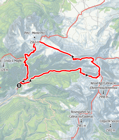 Karte / Weißlahnbad-Grasleitental-Schlern
