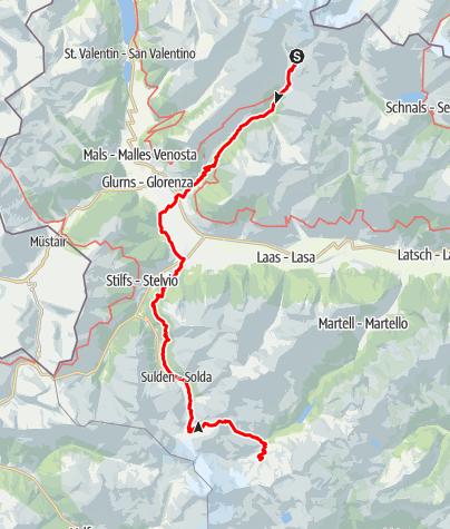 Karte / Alpcross 2017 Tag 4 Oberetteshütte -> Marteller Hütte