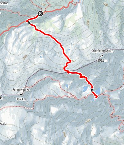 Map / Übergang von der Bremer Hütte zur Magdeburger Hütte
