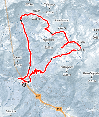 Karte / Rundtour Labspitze und Aignerhöhe