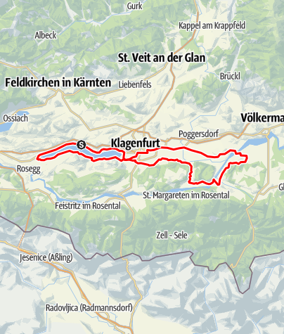 Karte / Tourenplanung am 8. April 2017