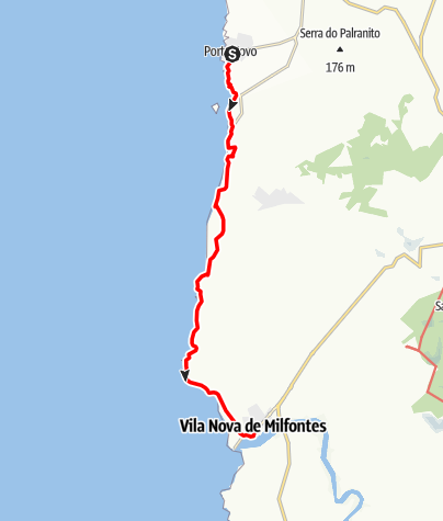 Karte / Felix' Fischerpfad - Etappe 1: Porto Covo > Vila Nova de Milfontes