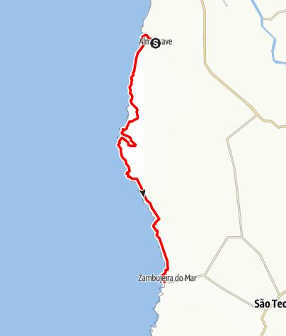Karte / Felix' Fischerpfad - Etappe 3: Almograve > Zambujeira do Mar