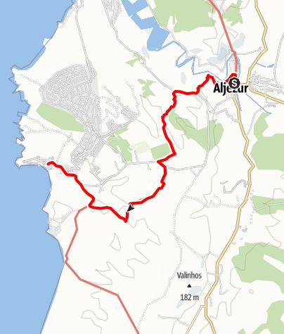 Karte / Felix' Fischerpfad - Etappe 6: Aljezur > Arrifana