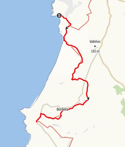 Karte / Felix' Fischerpfad - Etappe 7: Arrifana > Carrapateira