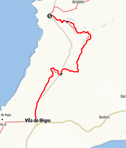 Karte / Felix' Fischerpfad - Etappe 8: Carrapateira > Vila do Bispo