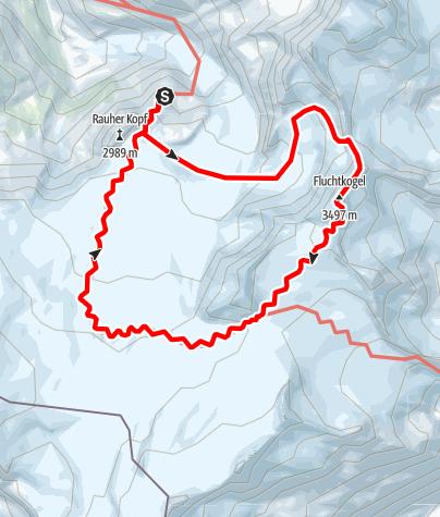 Karte / Rauhekopfhütte - Fluchtkogel