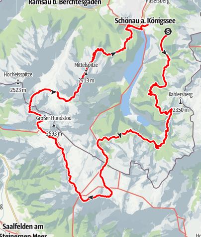 Map / Rund um den Königssee