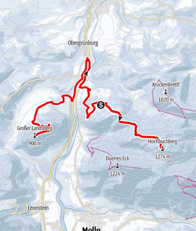 Map / Hochbuchberg 1273m und Landsberge 899m in den O.Ö.Voralpen