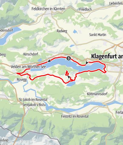 Karte / Tourenplanung am 26. April 2017