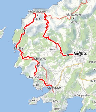 Karte / GR221-1