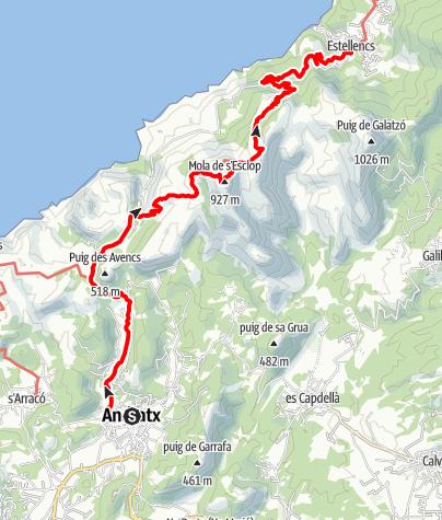 Karte / GR221-2