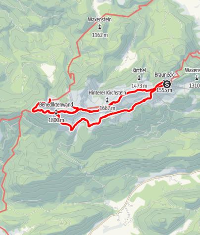 Karte / Rundweg: Brauneck - Achselköpfe - Tutzinger Hütte
