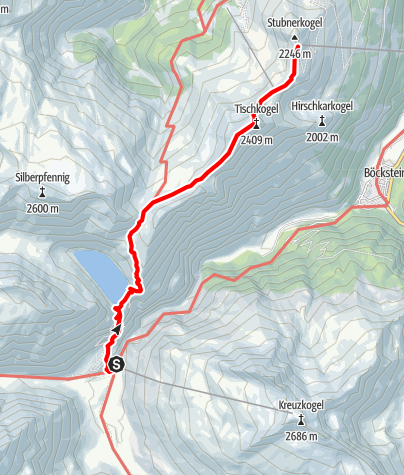 Karte / Von Sportgastein über Bockhartsee zum Stubnerkogel. Variante 2