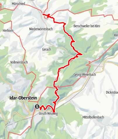 Karte / Saar-Hunsrück-Steig Etappe 12