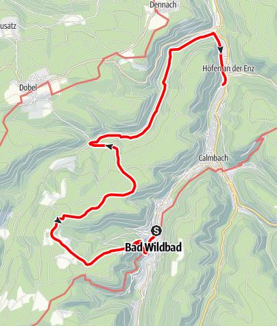 Karte / Bad Wildbad - Baumwipfelpfad - Höfen an der Enz