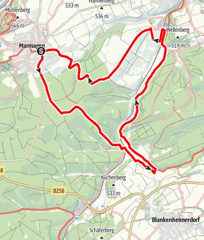 Karte / Marmagen, NSG Haubachtal und Urfttal, römische Siedlung Macromagus