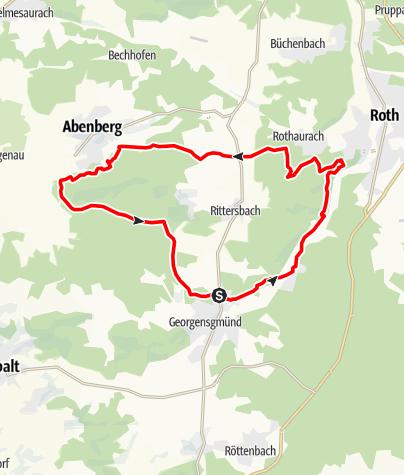 Karte / Georgensgmünd über Weinberg nach Abenberg und zurück