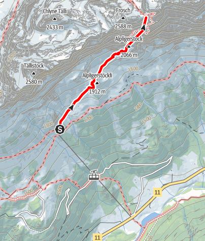 Karte / Tälli Klettersteig - Gadmen