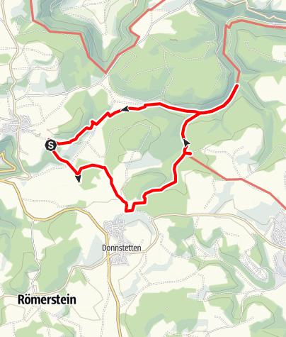 Karte / Rundweg vom Harpprechthaus zur Schertelshöhle