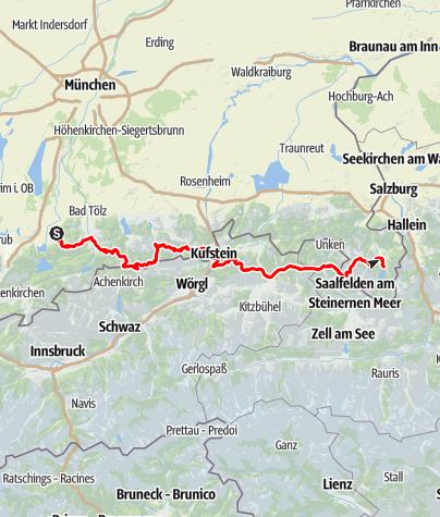 Karte / Vom Walchensee zum Königssee