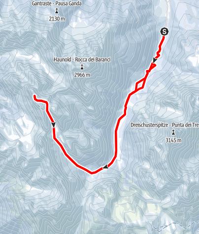 Karte / Hochebenkofel - ein versteckter Gipfel in den Dolomiten