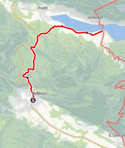 Karte / Weißbriach - Kreuzberg - Weißensee