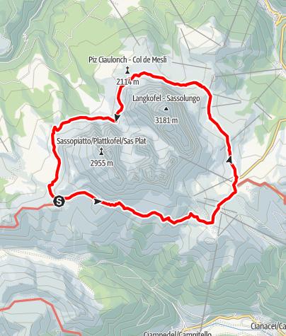 Karte / Langkofel