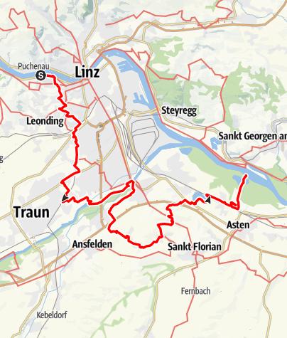 Karte / Rund um Linz von St. Margarethen > Ausee