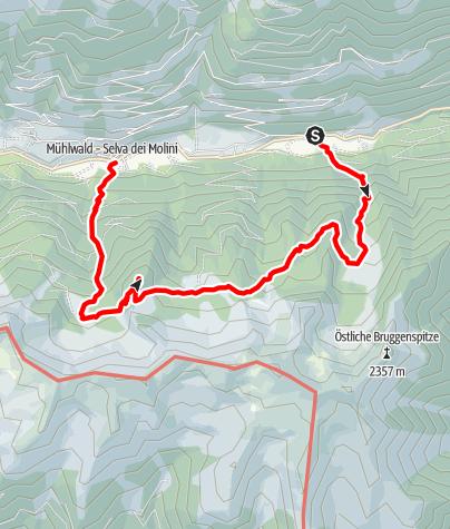 Karte / Wanderung an der Mühlwalder Schattenseite